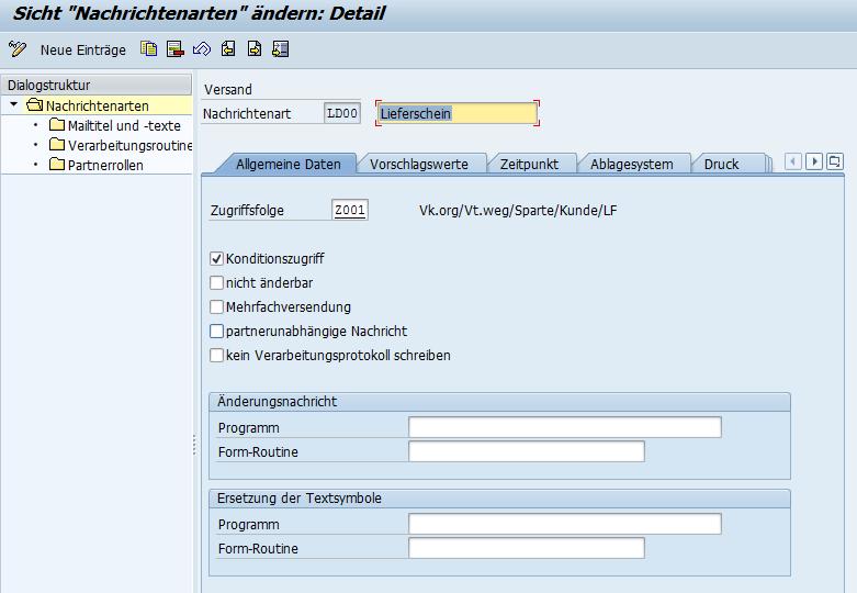 Nachrichtenarten in der SAP Nachrichtensteuerung