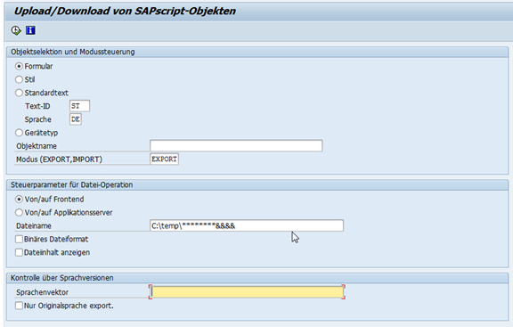 SAPscript Formulardownload