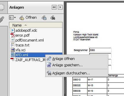 Adobe Formulare testen