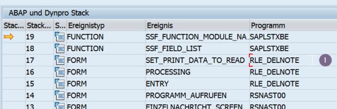 Druckprogramm zum SAP Formular