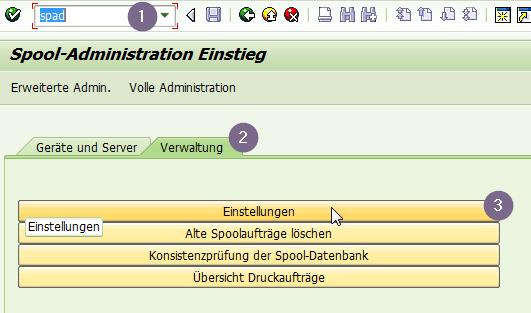 SPAD Parameter in der Verwaltung für eine verzögerte Ausgabe von SAP Formularen