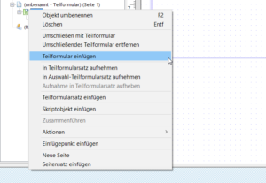 Tabellen in Adobe Forms