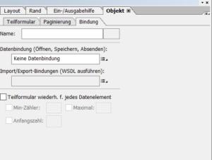 Tabellen in Adobe Forms