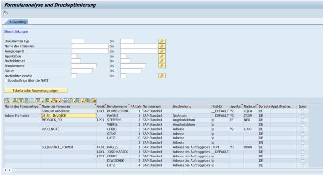 SAP Formular Check
