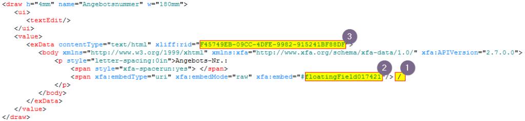 Adobe Formular Übersetzung