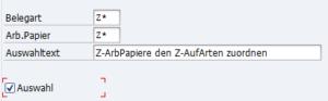 OID2, Zuordnung der Auftragspapiere zu Auftragsarten; Detailansicht