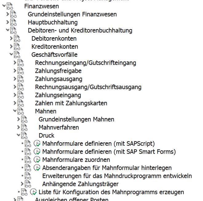 Mahnung auf Adobe Forms