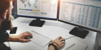 Businessman Working Finance Data Planning Concept