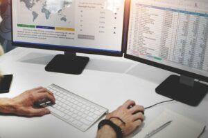 Businessman Working Finance Data Planning Concept