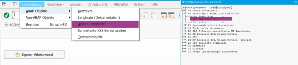Smartformstext-Übersetzungen per SE63 pflegen