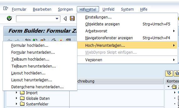 smartforms teilbaum