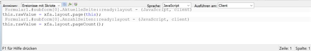 JavaScript: Seitenzahlen ermitteln