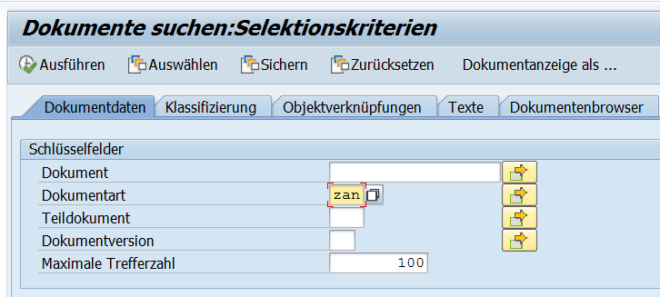 SAP Dokumentenmanagement