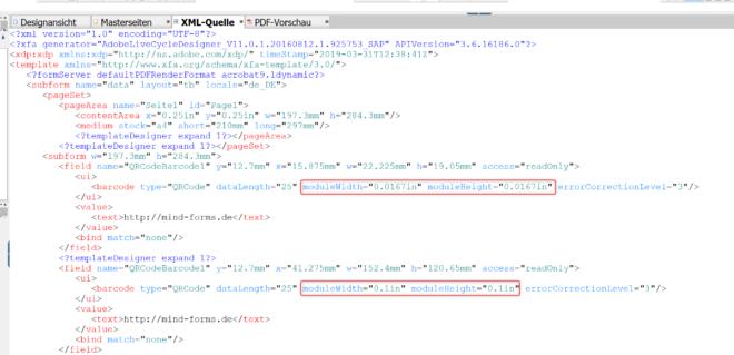 Größe von QR-Codes ändern
