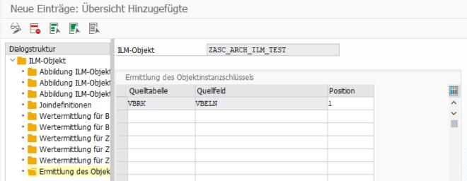Transaktion IRM_CUST - Ermittlung des Objektinstanzschlüssels
