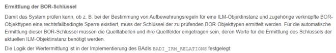 Auszug aus der SAP-Doku