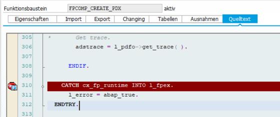 Abb. 10 - Breakpoint am Ende von 'FPCOMP_CREATE_PDX'
