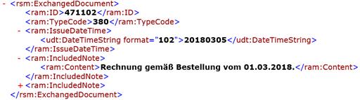 Abb 4. In diesem Bereich geben Nutzer die Kopfdaten der Rechnung an.