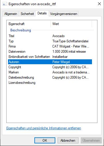 Abbildung 3: Eigenschaften der Datei öffnen