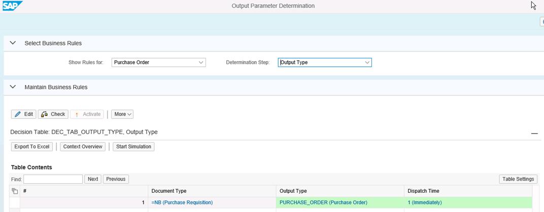 Abbildung 5: Output Parameter Determination